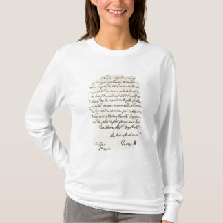 Letter from George I to Charles VI T-Shirt