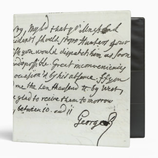 Letter from George II to the Duke of Newcastle 3 Ring Binder