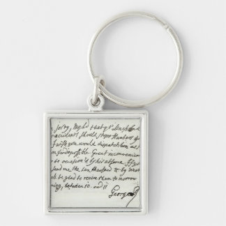 Letter from George II to the Duke of Newcastle Keychain