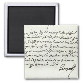 Letter from George II to the Duke of Newcastle Magnet
