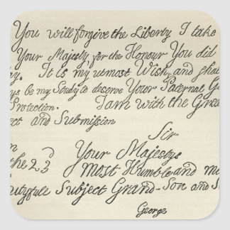 Letter from George III to his grandfather the Square Sticker