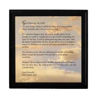 Letter From God Keepsake Boxes