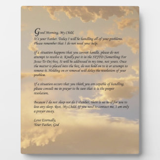 Letter From God Plaque
