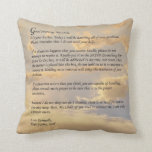 Letter From God Throw Pillows