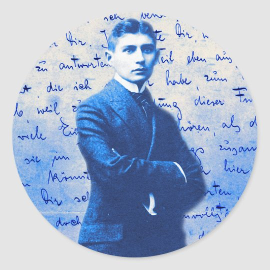 Letter From Kafka Classic Round Sticker