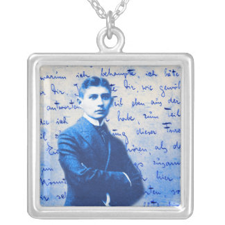 Letter From Kafka Square Pendant Necklace
