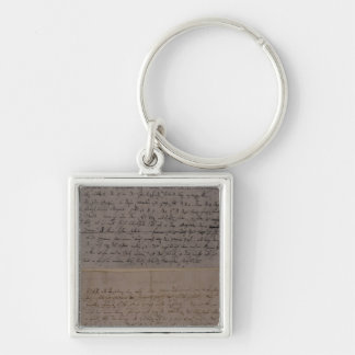 Letter from Leopold Mozart Keychain