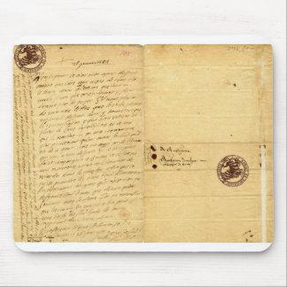 Letter from Michel de Montaigne 1585 Mouse Pad
