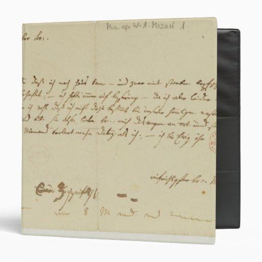 Mozart Lettere: Freemason Binders, Custom Freemason 3 Ring Binder Designs