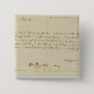 Letter from Mozart to a freemason, January 1786 Pinback Button
