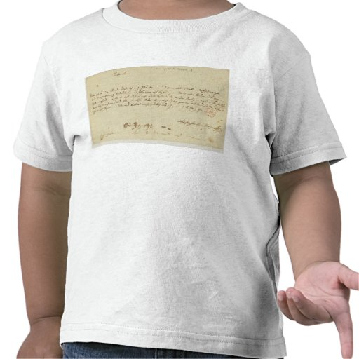 Letter from Mozart to a freemason, January 1786 T Shirt