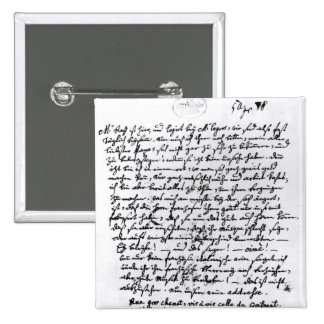 Letter from Mozart to his Father, 5th April 2 Inch Square Button