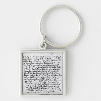 Letter from Mozart to his Father, 5th April Keychain