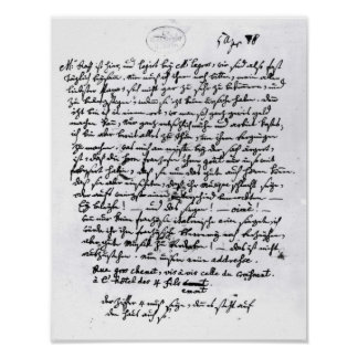 Letter from Mozart to his Father, 5th April Poster