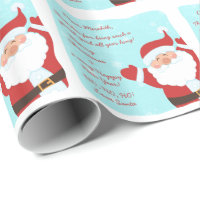 Letter from Santa Claus Christmas Wrapping Paper