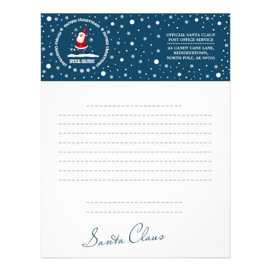 letter from santa claus custom letterheads letterhead zazzle com