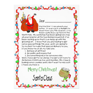 santa claus letter santa claus flyers amp programs zazzle 11808