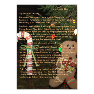 Letter from Santa Gingerbread 5x7 Magnetic Card