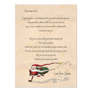 Letter From Santa Personalized 6.5x8.75 Paper Invitation Card