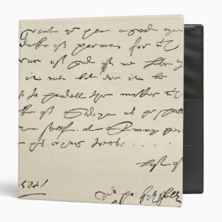 Letter from Sir Francis Drake Binder