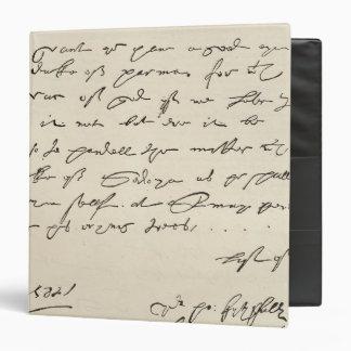 Letter from Sir Francis Drake Vinyl Binders