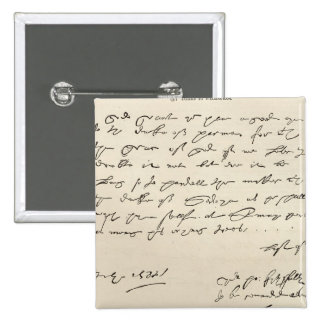 Letter from Sir Francis Drake 2 Inch Square Button