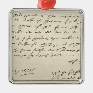 Letter from Sir Francis Drake Metal Ornament
