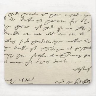 Letter from Sir Francis Drake Mouse Pad