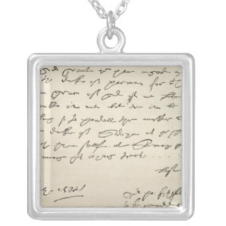 Letter from Sir Francis Drake Square Pendant Necklace