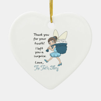 LETTER FROM TOOTH FAIRY CERAMIC ORNAMENT
