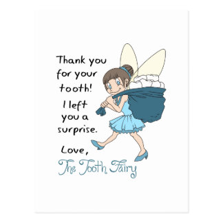 LETTER FROM TOOTH FAIRY POSTCARD