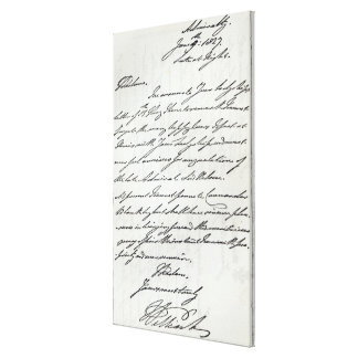 Letter from William IV to Lady Nelson Canvas Print