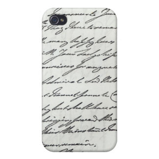 Letter from William IV to Lady Nelson Case For iPhone 4