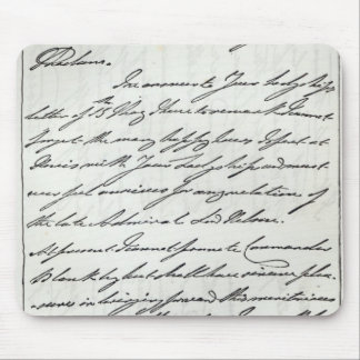 Letter from William IV to Lady Nelson Mouse Pad