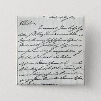 Letter from William IV to Lady Nelson Pinback Button