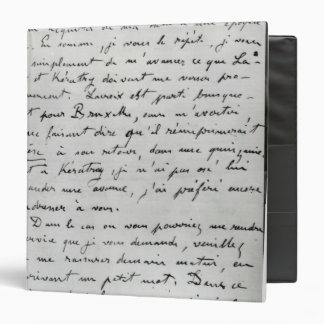 Letter from Zola to Edouard Manet  1868 Binders