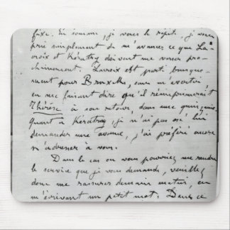 Letter from Zola to Edouard Manet  1868 Mouse Pad