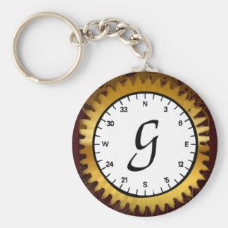 Letter G Clockwork Keychain