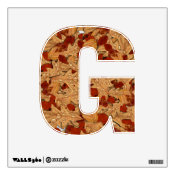 """Letter """" G """" Decal - Wet Autumn Leaves Wall Graphics"""