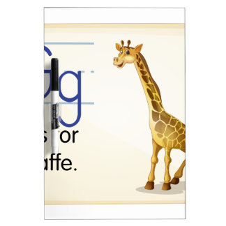 Letter G Dry Erase White Board