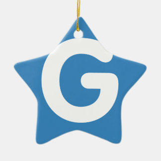 Letter G - emoji Twitter Adorno Navideño De Cerámica En Forma De Estrella