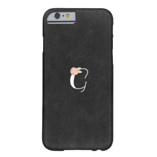 """Letter """"G"""" Floral Monogram iPhone Case Barely There iPhone 6 Case"""