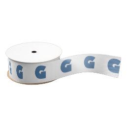 Letter G Gill font blue Grosgrain Ribbon
