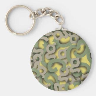 Letter G Green Keychain