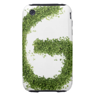 Letter 'G' in cress on white background, Tough iPhone 3 Case