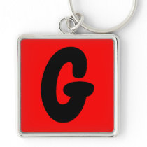 letter g initial , abecedario popular key chain