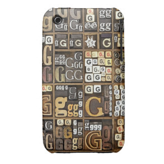 Letter G iPhone 3 Case
