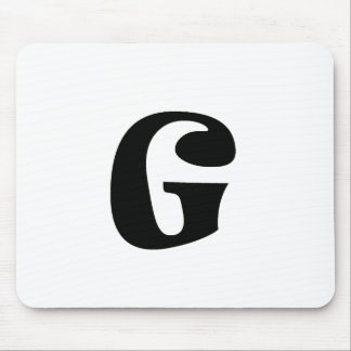 Letter G_large Mouse Pad