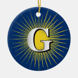 Letter G – masonic symbol Ceramic Ornament