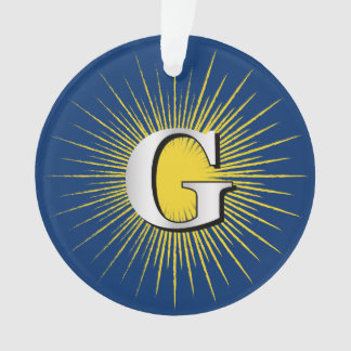 Letter G – masonic symbol Ornament